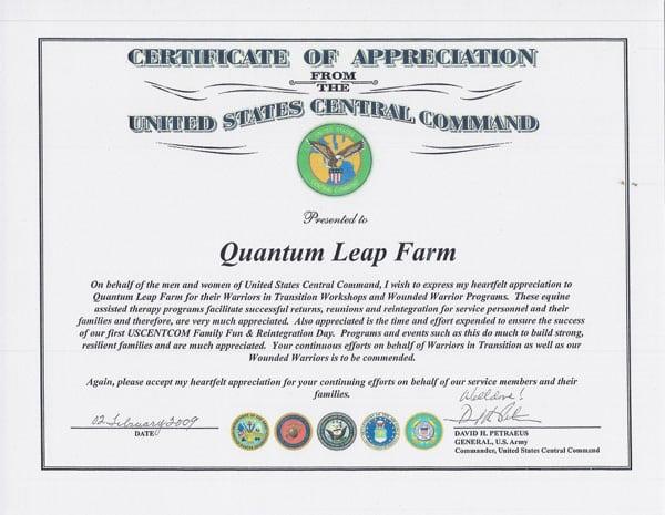 testimonial-General-Petreaus-Certificate
