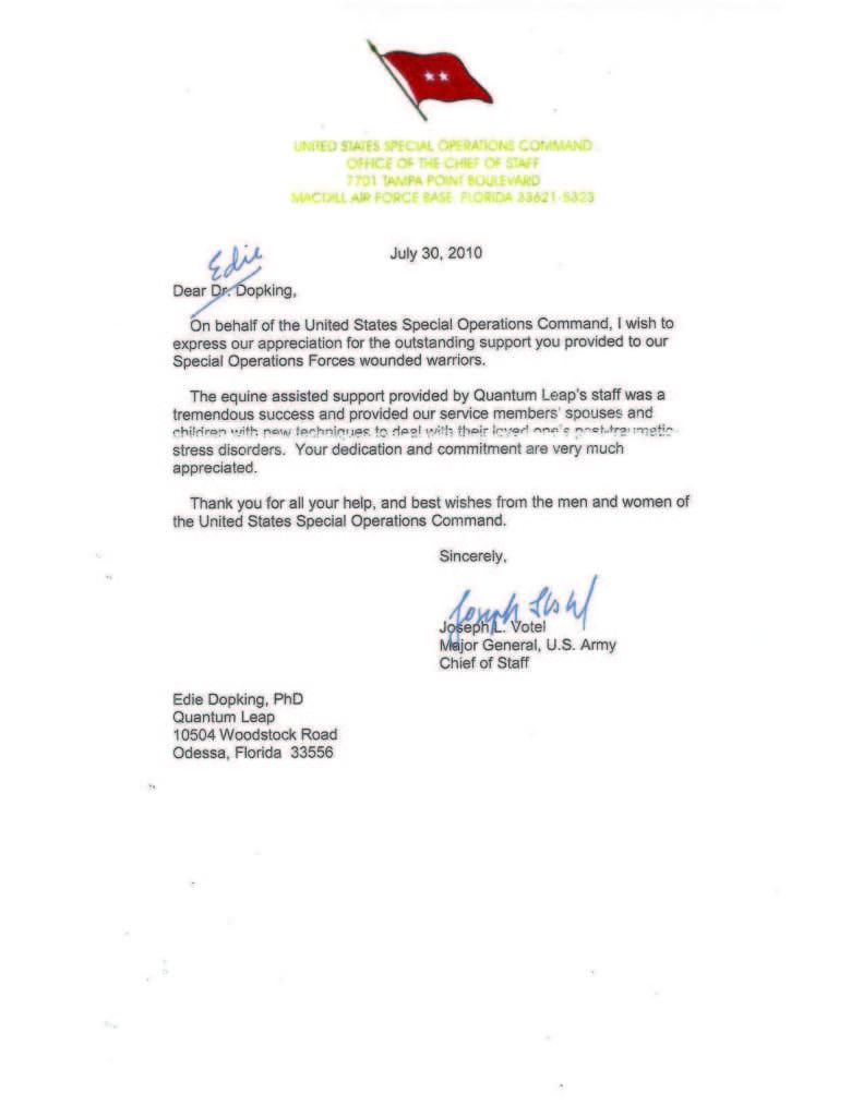 USSOC Letter